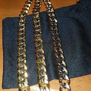 "Mens ""Titus"" Two-Tone Necklace and Bracelet Set"